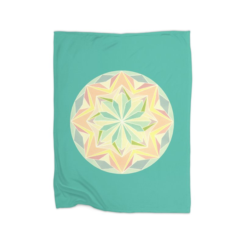Kaleidoscope Colour Home Fleece Blanket Blanket by Donal Mangan's Artist Shop