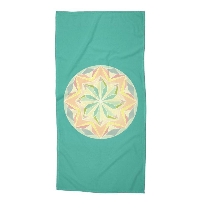 Kaleidoscope Colour Accessories Beach Towel by Donal Mangan's Artist Shop