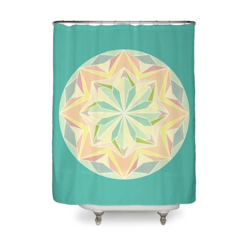 Kaleidoscope Colour Home Shower Curtain by Donal Mangan's Artist Shop