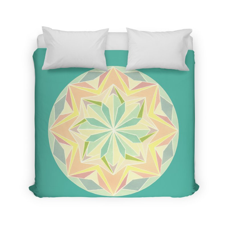 Kaleidoscope Colour Home Duvet by Donal Mangan's Artist Shop