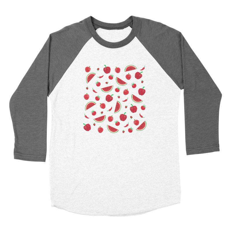 Red Fruit Women's Longsleeve T-Shirt by Donal Mangan's Artist Shop