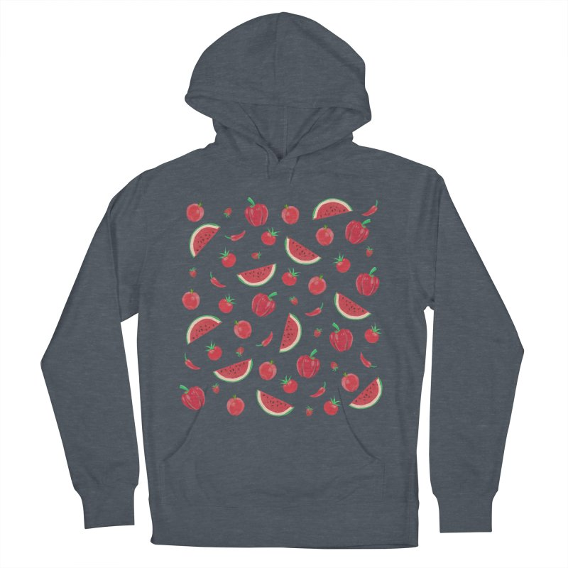 Red Fruit Women's Pullover Hoody by Donal Mangan's Artist Shop