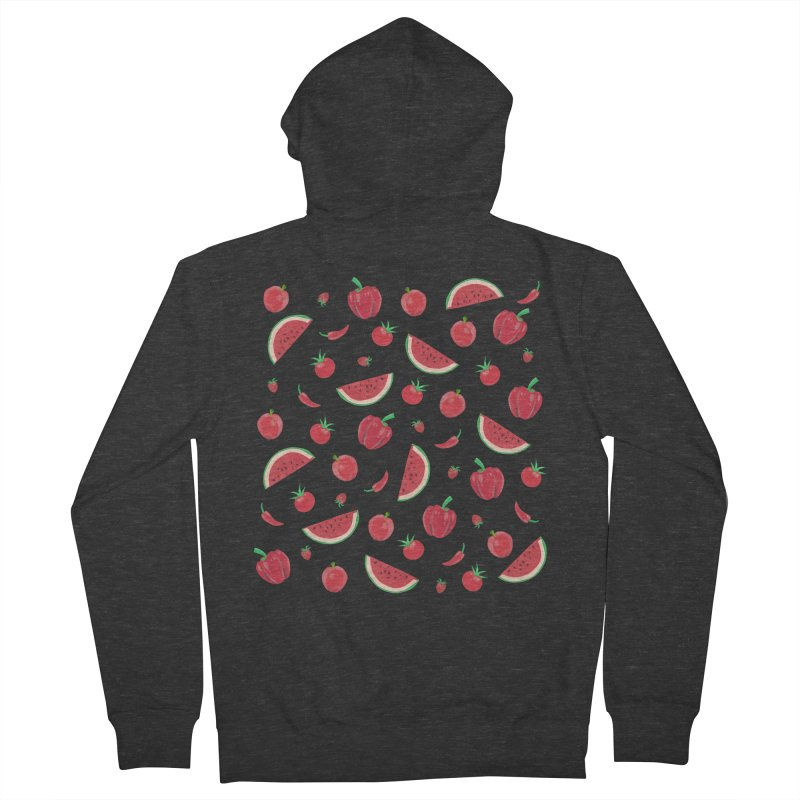 Red Fruit Men's Zip-Up Hoody by Donal Mangan's Artist Shop