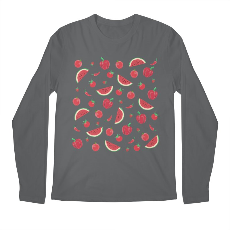Red Fruit Men's Longsleeve T-Shirt by Donal Mangan's Artist Shop