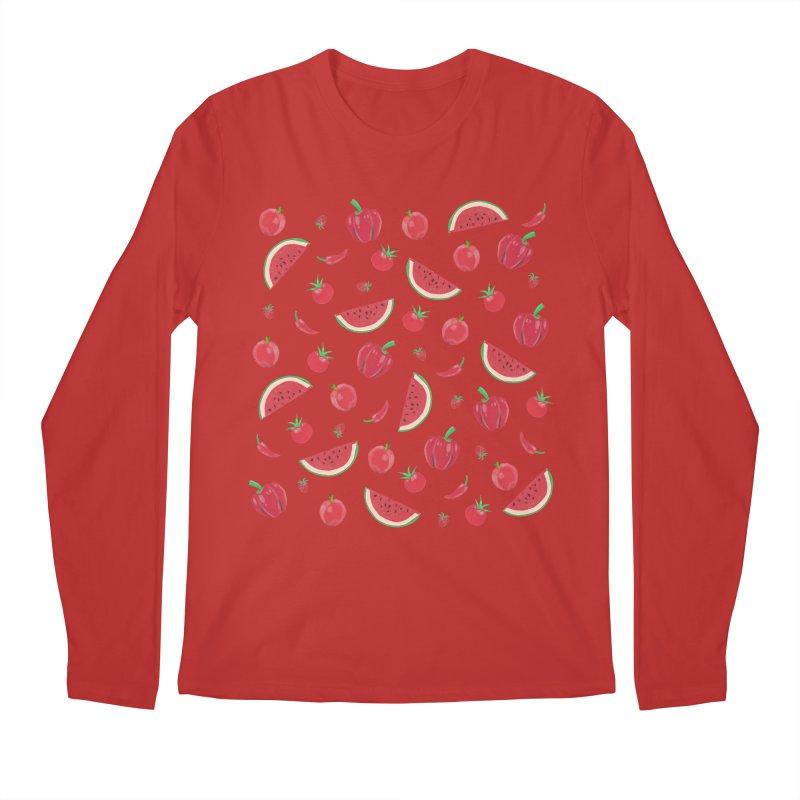 Red Fruit Men's Regular Longsleeve T-Shirt by Donal Mangan's Artist Shop