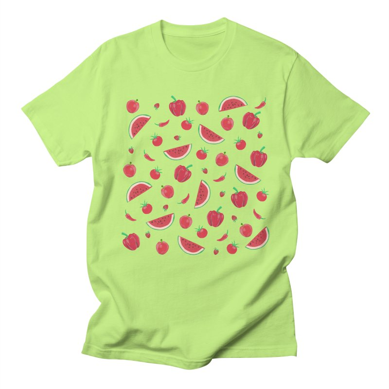 Red Fruit Women's Regular Unisex T-Shirt by Donal Mangan's Artist Shop