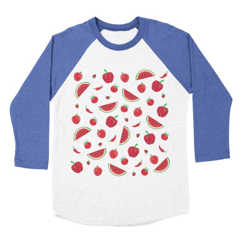 Red Fruit Women's Baseball Triblend T-Shirt by Donal Mangan's Artist Shop