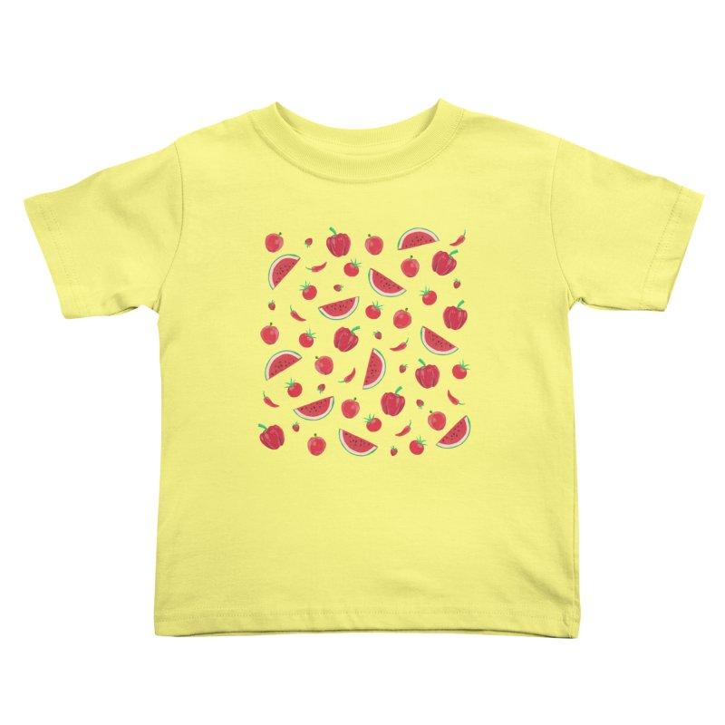 Red Fruit Kids Toddler T-Shirt by Donal Mangan's Artist Shop