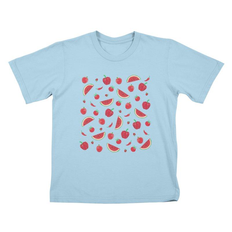 Red Fruit Kids T-Shirt by Donal Mangan's Artist Shop