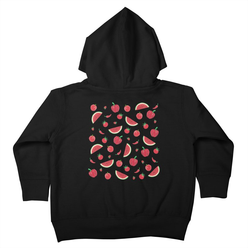 Red Fruit Kids Toddler Zip-Up Hoody by Donal Mangan's Artist Shop
