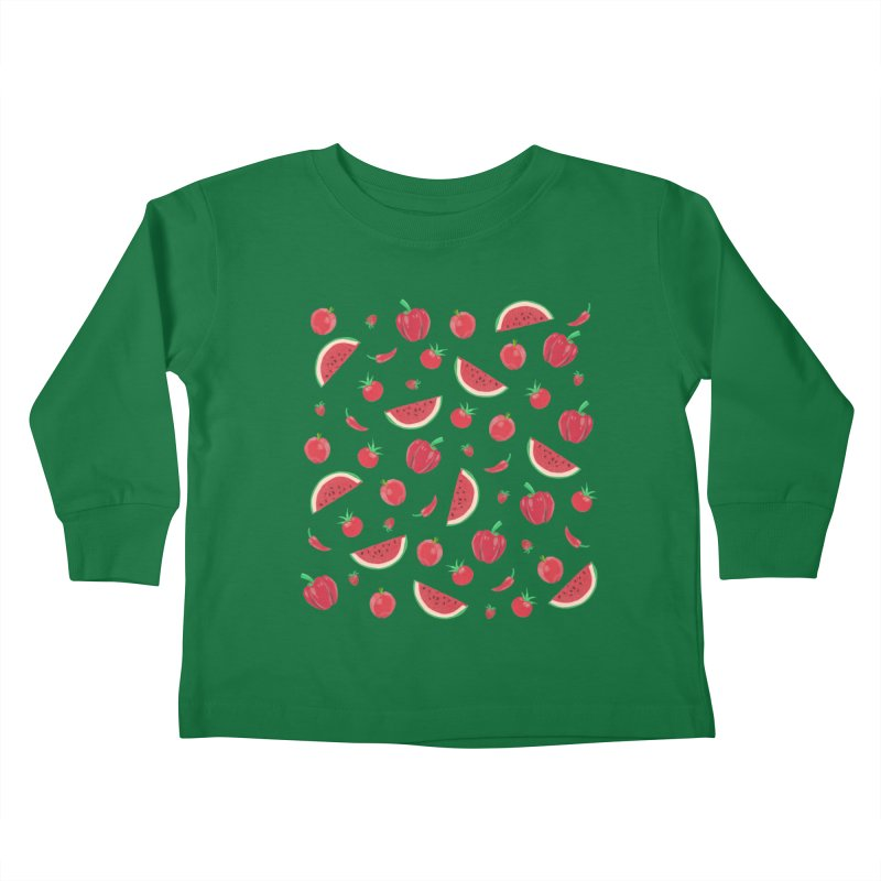 Red Fruit Kids Toddler Longsleeve T-Shirt by Donal Mangan's Artist Shop