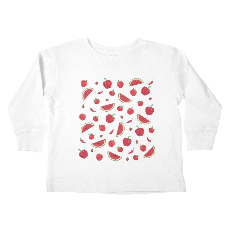 Red Fruit Kids Toddler Longsleeve T-Shirt by Donal Mangan's Artist Shop