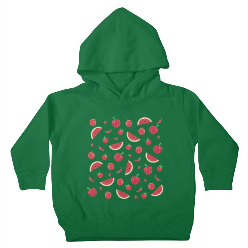 Red Fruit Kids Toddler Pullover Hoody by Donal Mangan's Artist Shop