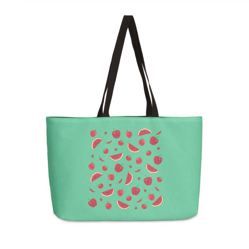 Red Fruit Accessories Bag by Donal Mangan's Artist Shop