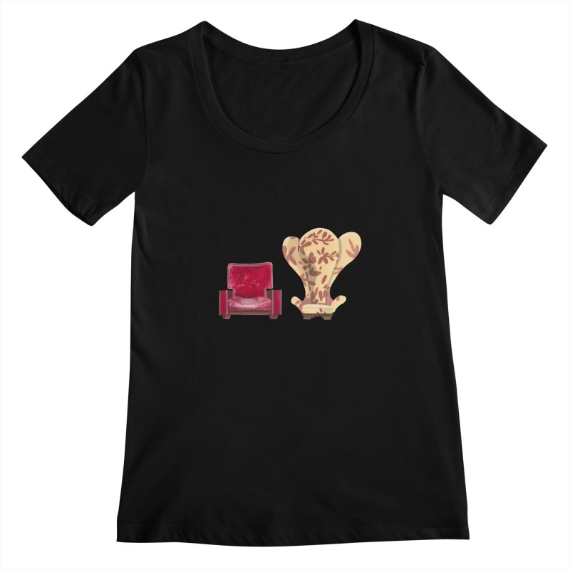 You and me, we're in a club now. Women's Scoopneck by Donal Mangan's Artist Shop