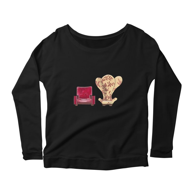 You and me, we're in a club now. Women's Scoop Neck Longsleeve T-Shirt by Donal Mangan's Artist Shop