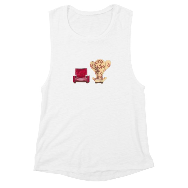 You and me, we're in a club now. Women's Muscle Tank by Donal Mangan's Artist Shop