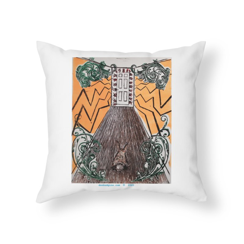 Exit Home Throw Pillow by donhudgins's Artist Shop