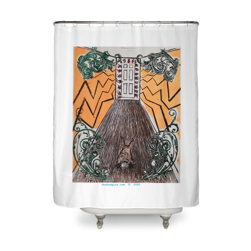 Exit Home Shower Curtain by donhudgins's Artist Shop