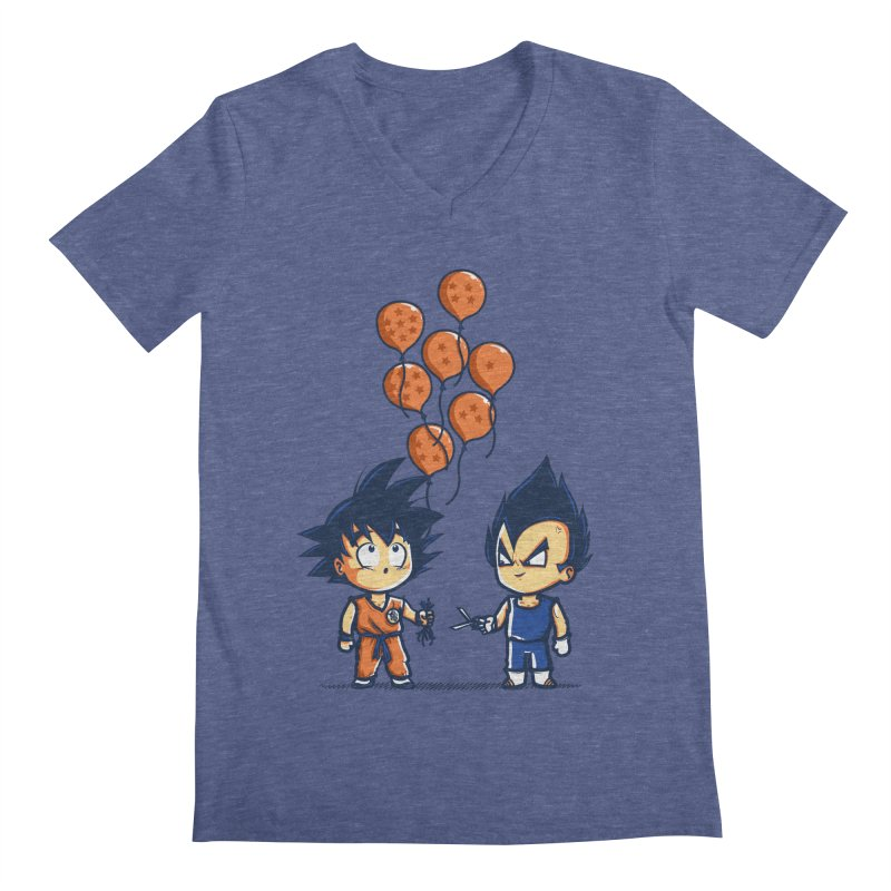 Crystal Balloons Men's V-Neck by Donnie's Artist Shop