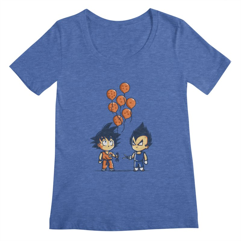 Crystal Balloons Women's Scoopneck by Donnie's Artist Shop