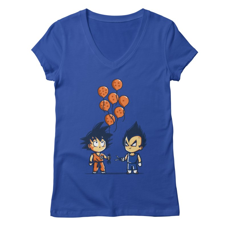 Crystal Balloons Women's V-Neck by Donnie's Artist Shop
