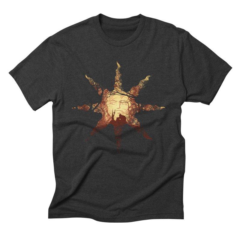 Praise the Sun Men's Triblend T-shirt by Donnie's Artist Shop