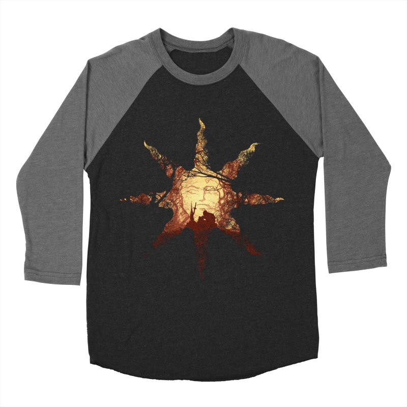 Praise the Sun Women's Baseball Triblend T-Shirt by Donnie's Artist Shop
