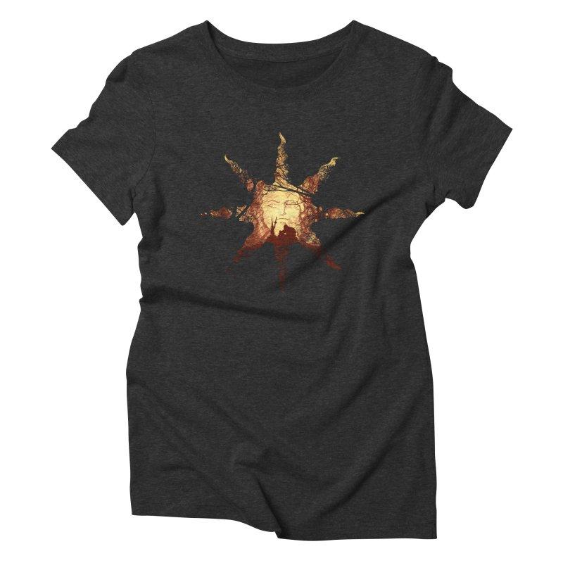 Praise the Sun Women's Triblend T-shirt by Donnie's Artist Shop