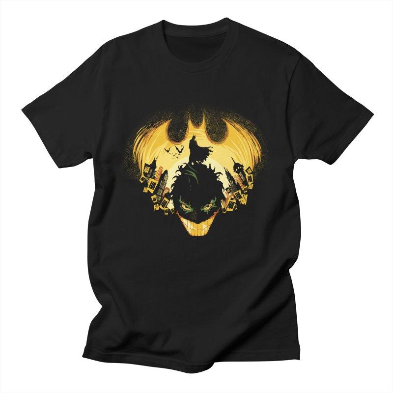 The Dark Knightmare Men's T-shirt by Donnie's Artist Shop