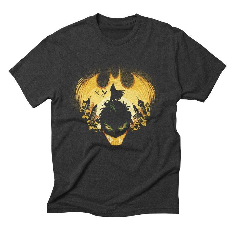 The Dark Knightmare Men's Triblend T-shirt by Donnie's Artist Shop