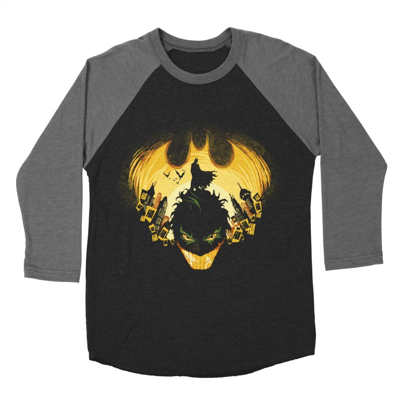 The Dark Knightmare Men's Baseball Triblend T-Shirt by Donnie's Artist Shop