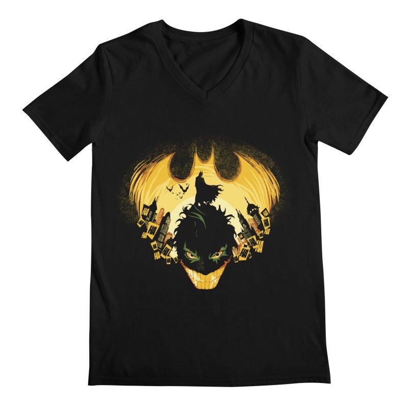 The Dark Knightmare Men's V-Neck by Donnie's Artist Shop