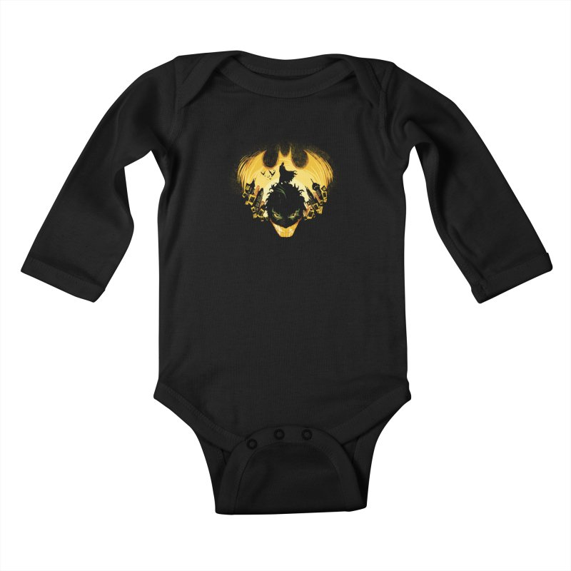 The Dark Knightmare Kids Baby Longsleeve Bodysuit by Donnie's Artist Shop