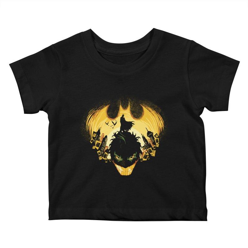 The Dark Knightmare Kids Baby T-Shirt by Donnie's Artist Shop