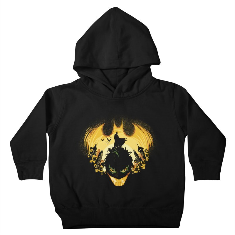The Dark Knightmare Kids Toddler Pullover Hoody by Donnie's Artist Shop