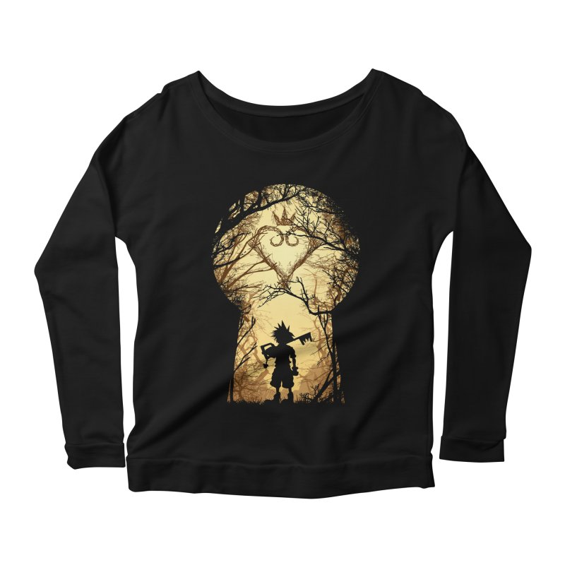 My Kingdom Women's Longsleeve Scoopneck  by Donnie's Artist Shop