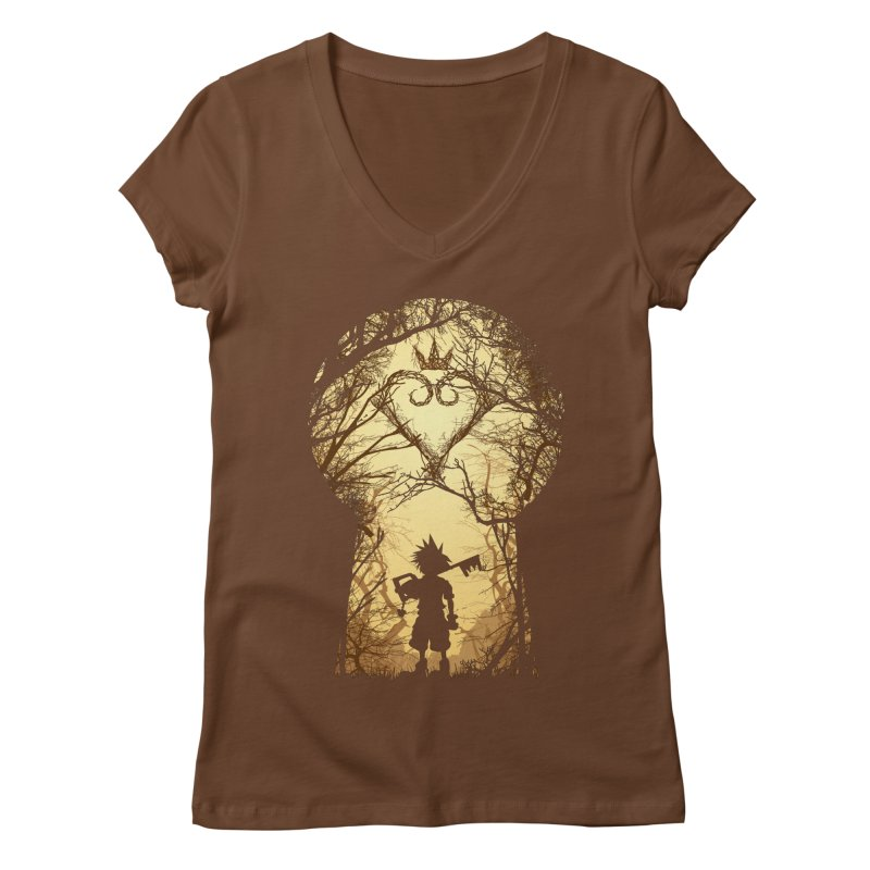 My Kingdom Women's V-Neck by Donnie's Artist Shop