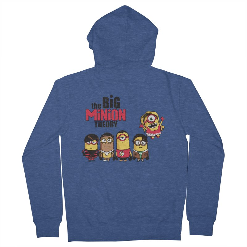 The Big Minion Theory Men's Zip-Up Hoody by Donnie's Artist Shop