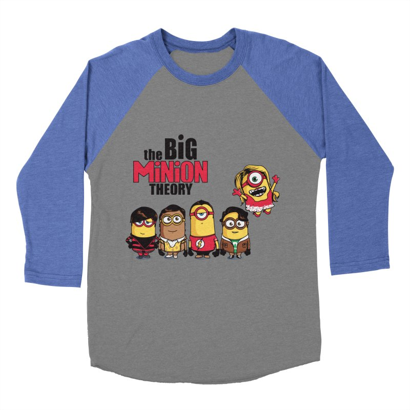 The Big Minion Theory Women's Baseball Triblend T-Shirt by Donnie's Artist Shop