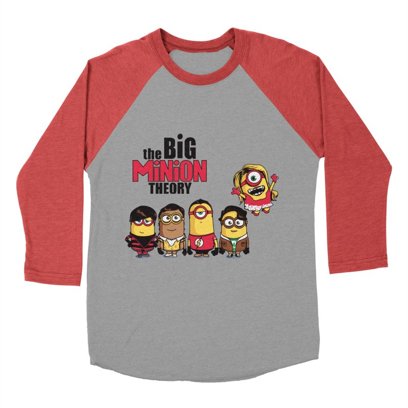 The Big Minion Theory Men's Baseball Triblend T-Shirt by Donnie's Artist Shop