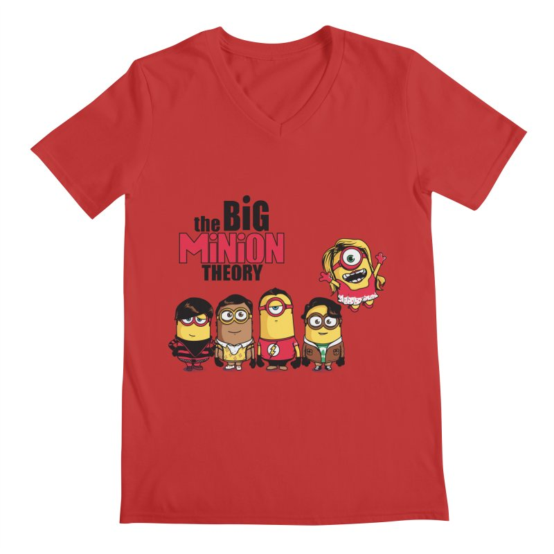 The Big Minion Theory Men's V-Neck by Donnie's Artist Shop