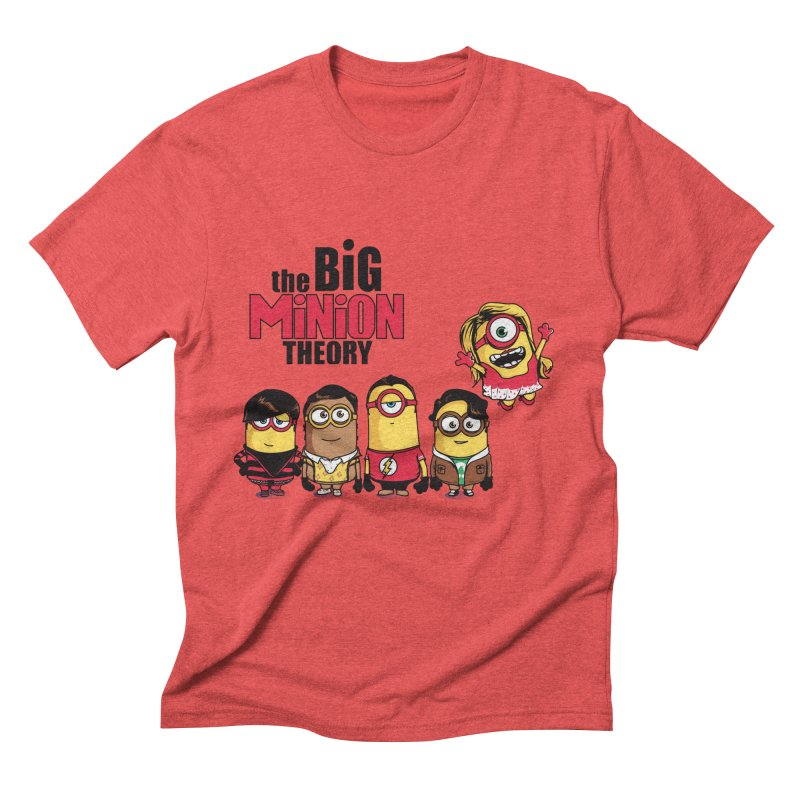 The Big Minion Theory Men's Triblend T-shirt by Donnie's Artist Shop