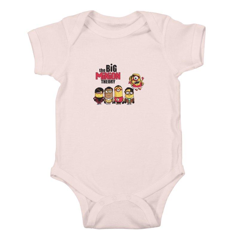 The Big Minion Theory Kids Baby Bodysuit by Donnie's Artist Shop
