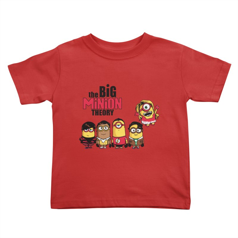 The Big Minion Theory Kids Toddler T-Shirt by Donnie's Artist Shop