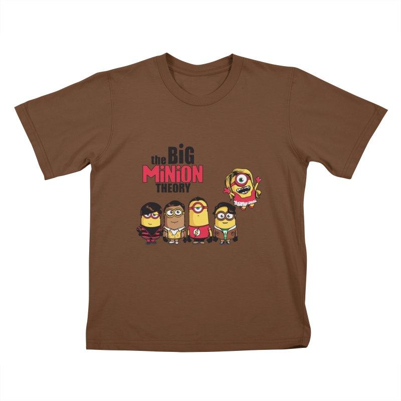 The Big Minion Theory Kids T-shirt by Donnie's Artist Shop