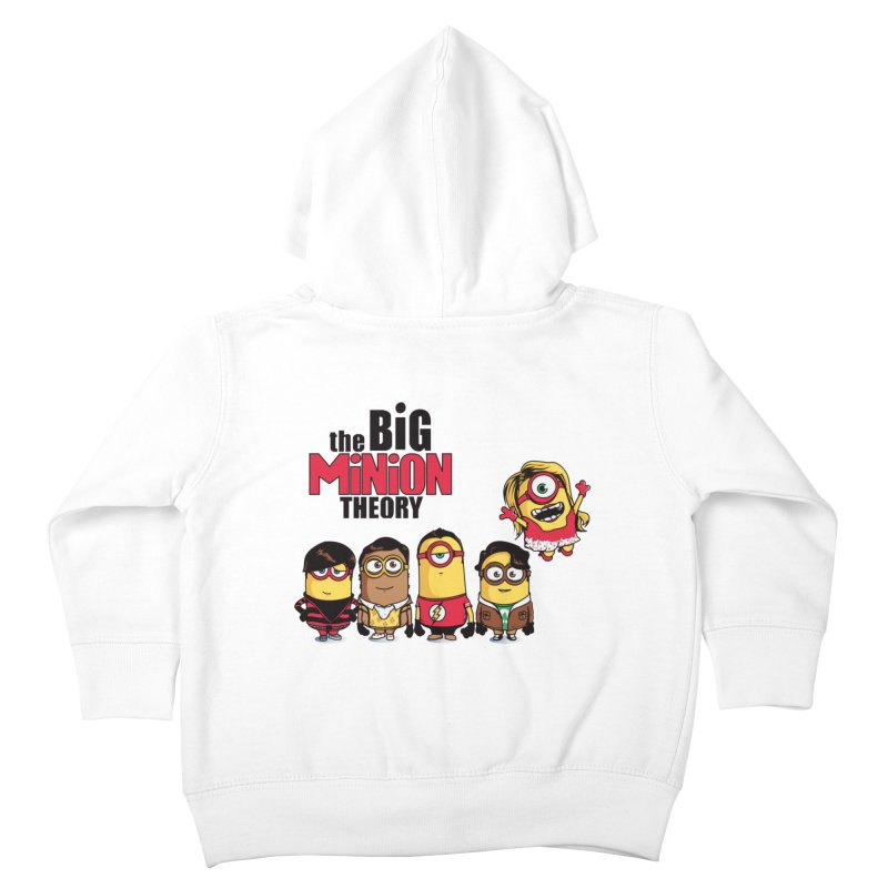 The Big Minion Theory Kids Toddler Zip-Up Hoody by Donnie's Artist Shop