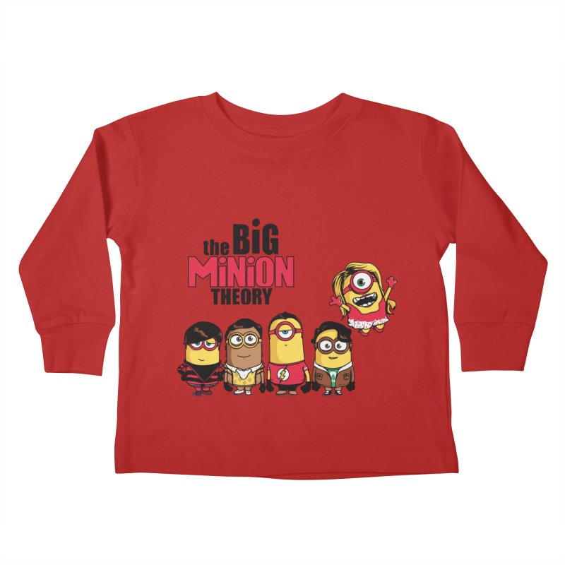 The Big Minion Theory Kids Toddler Longsleeve T-Shirt by Donnie's Artist Shop