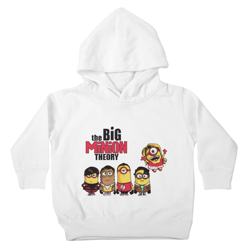The Big Minion Theory Kids Toddler Pullover Hoody by Donnie's Artist Shop