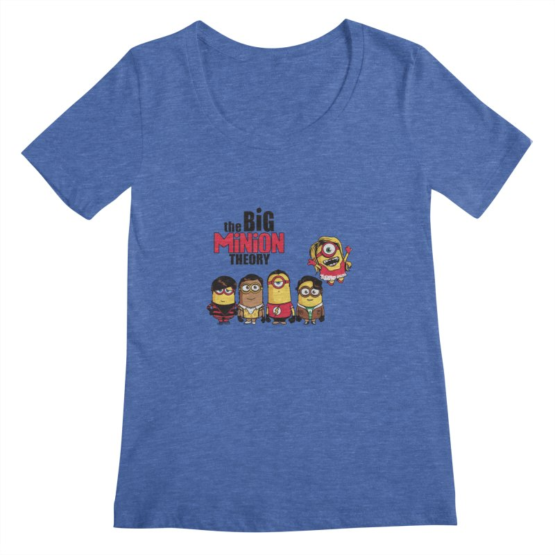 The Big Minion Theory Women's Scoopneck by Donnie's Artist Shop